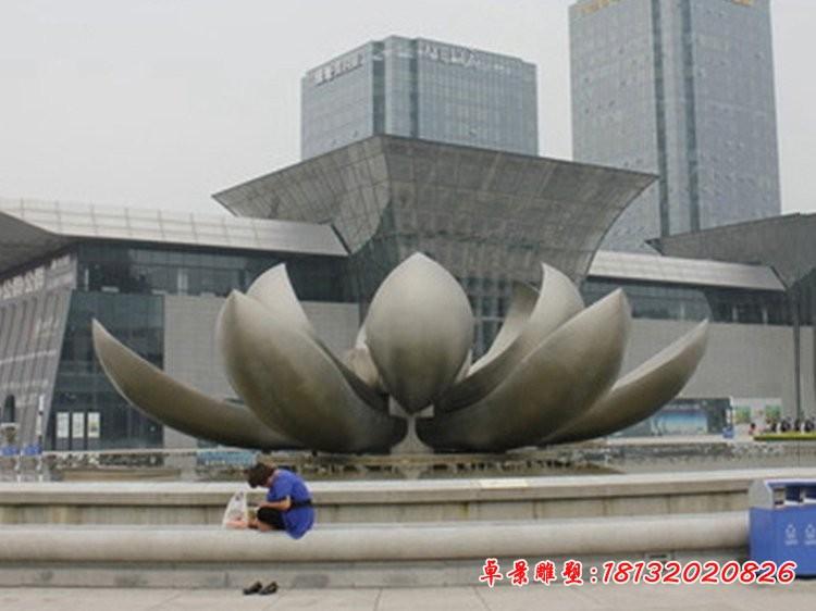 廣場大型不銹鋼蓮花