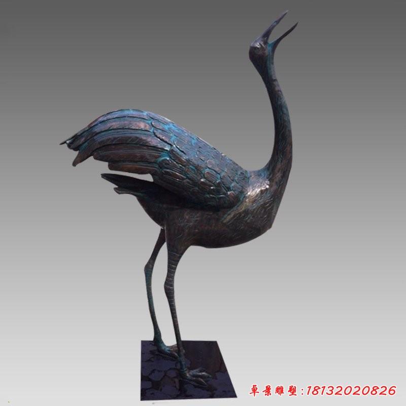 青銅丹頂鶴雕塑