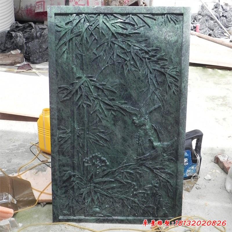小區竹子銅浮雕壁畫