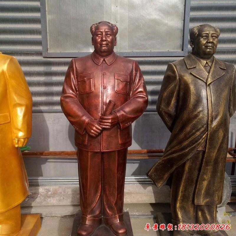 玻璃鋼仿銅毛澤東雕像