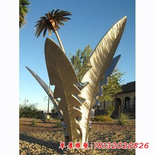 不銹鋼蒲公英公園植物雕塑