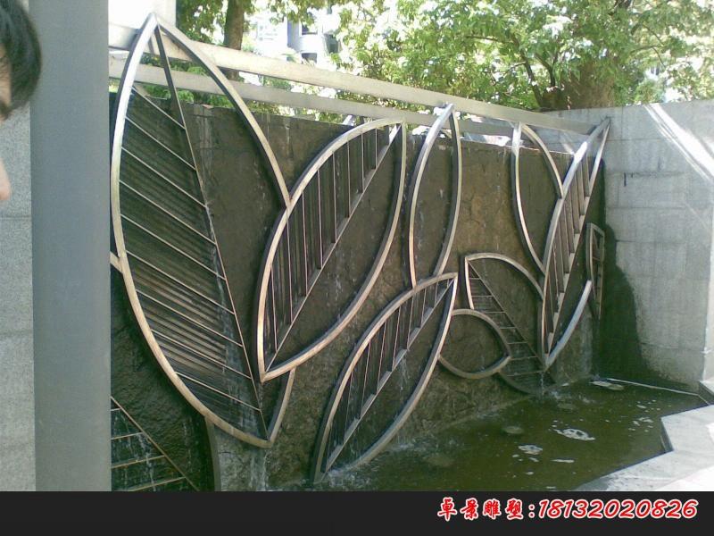不銹鋼公園抽象樹葉雕塑