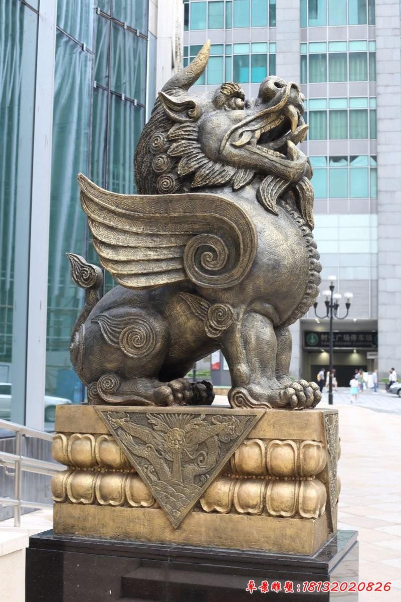 銅雕獬豸法院獨角獸雕塑