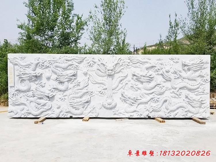 公園景區漢白玉九龍壁