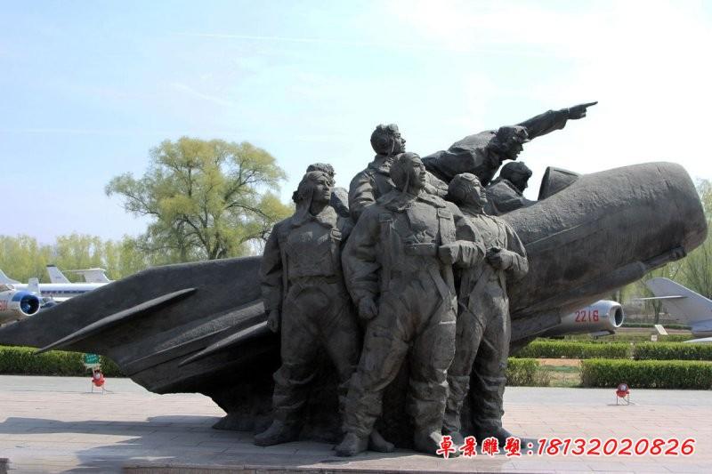 景區廣場飛行員銅雕