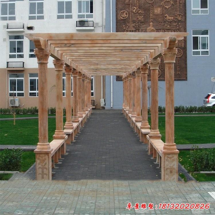 校園長廊走廊石雕