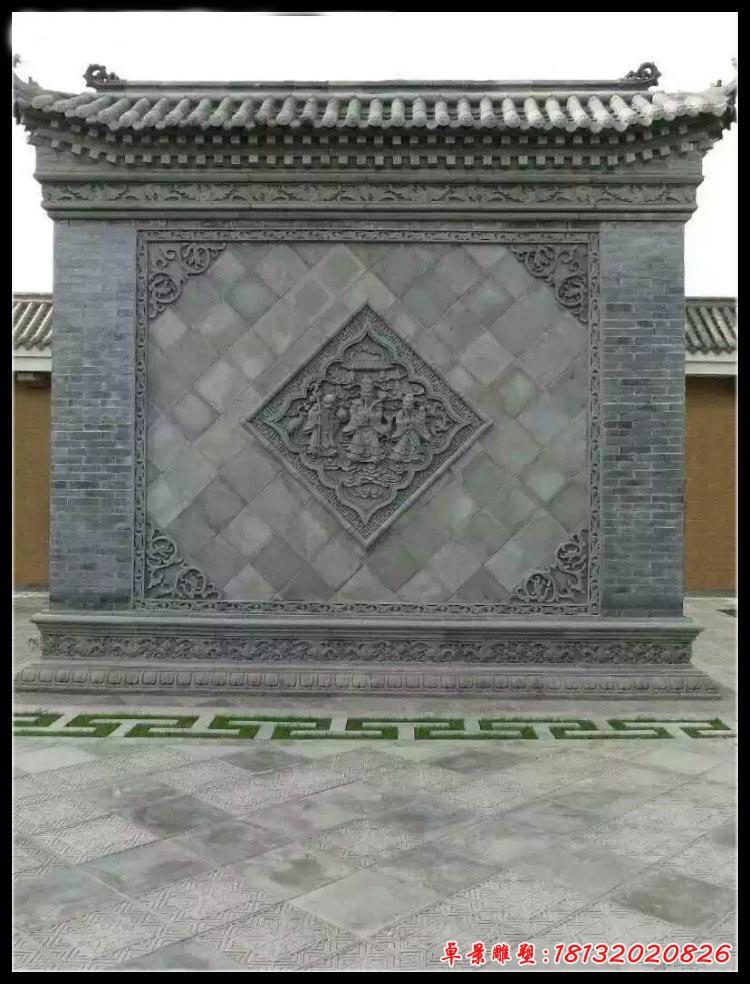 福祿壽浮雕石影壁