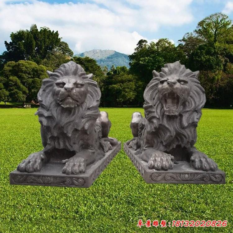 銅雕門口歐式獅子