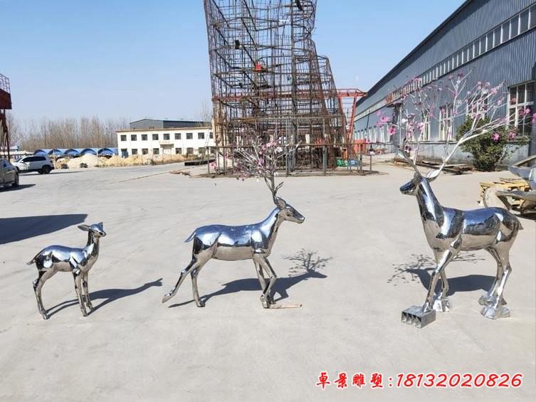 不銹鋼動物鏡面梅花鹿
