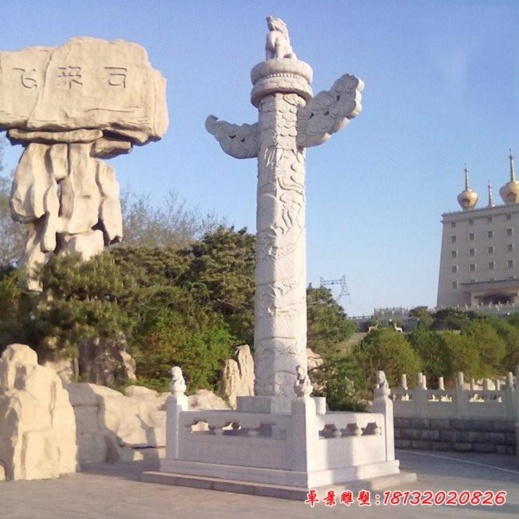 廣場石雕華表龍柱