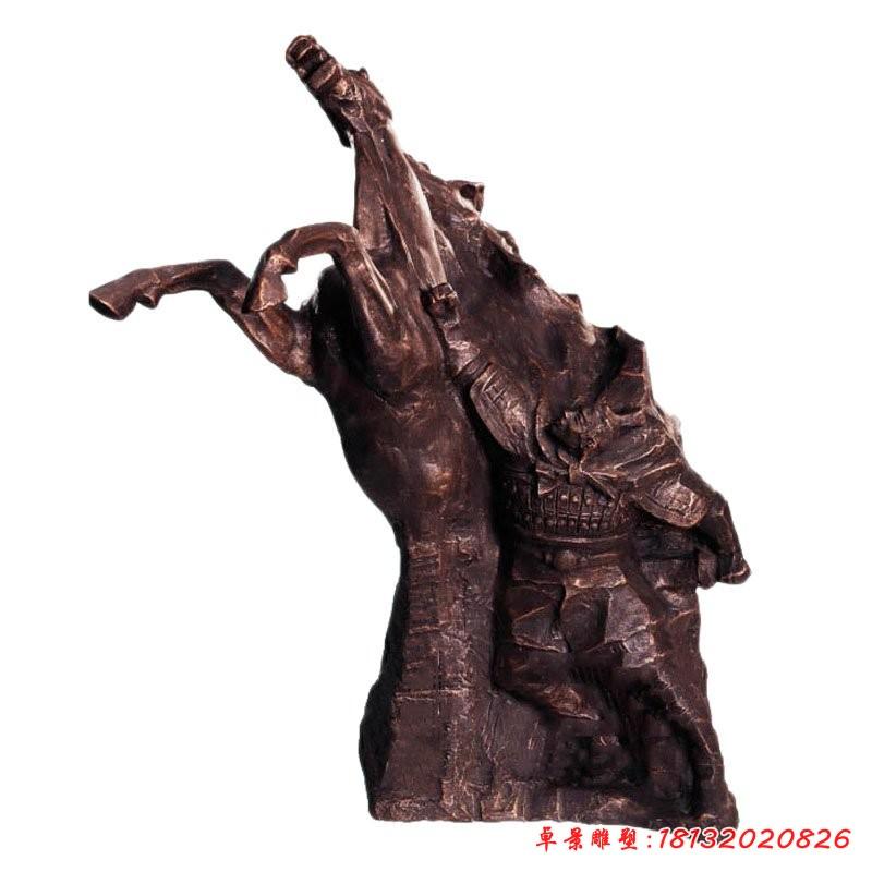 李世民落難泰州銅雕