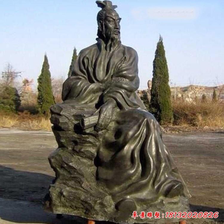 抽象古代名人屈原銅雕