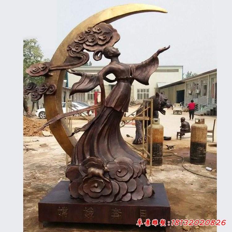 銅雕嫦娥奔月