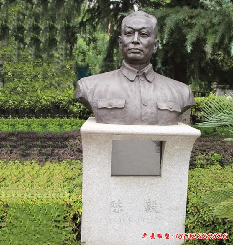 陳毅胸像銅雕