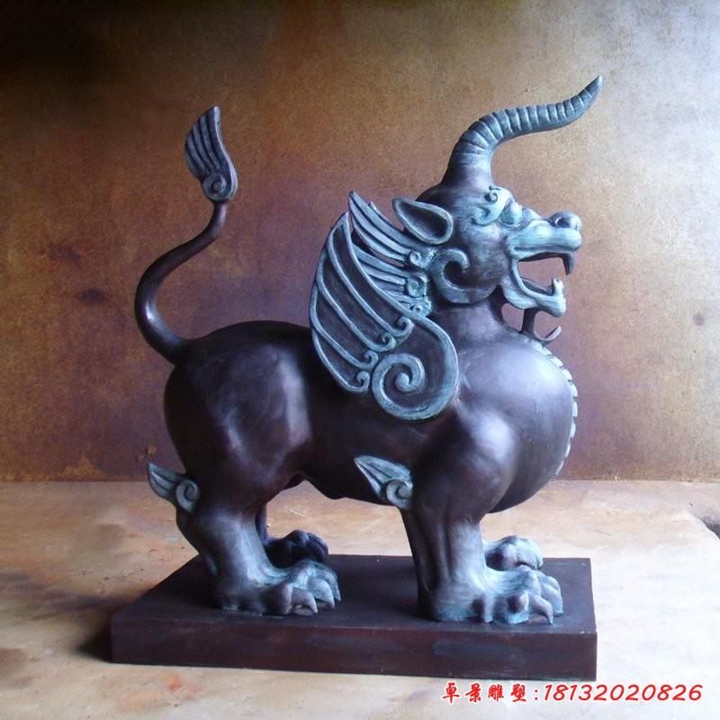 銅雕獬豸獨角獸