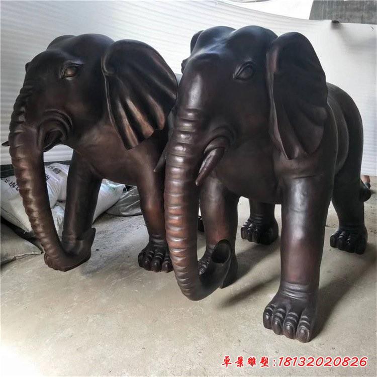 門口鎮宅大象銅雕