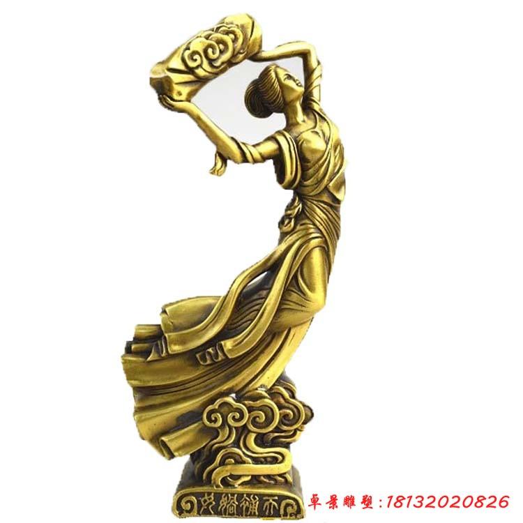 銅雕女媧補天
