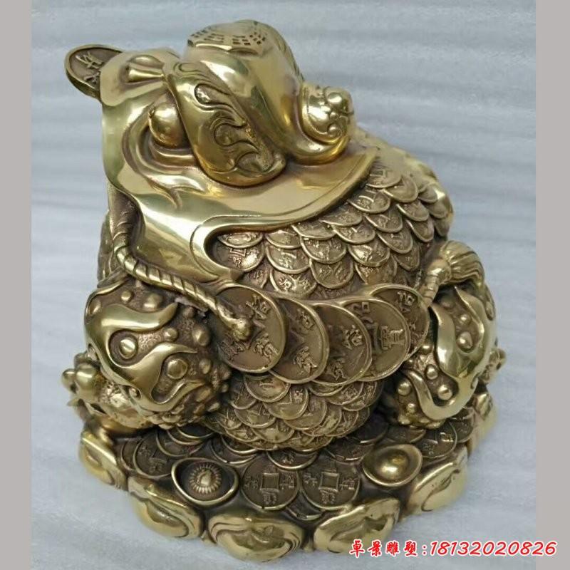 銅雕招財進寶金蟾