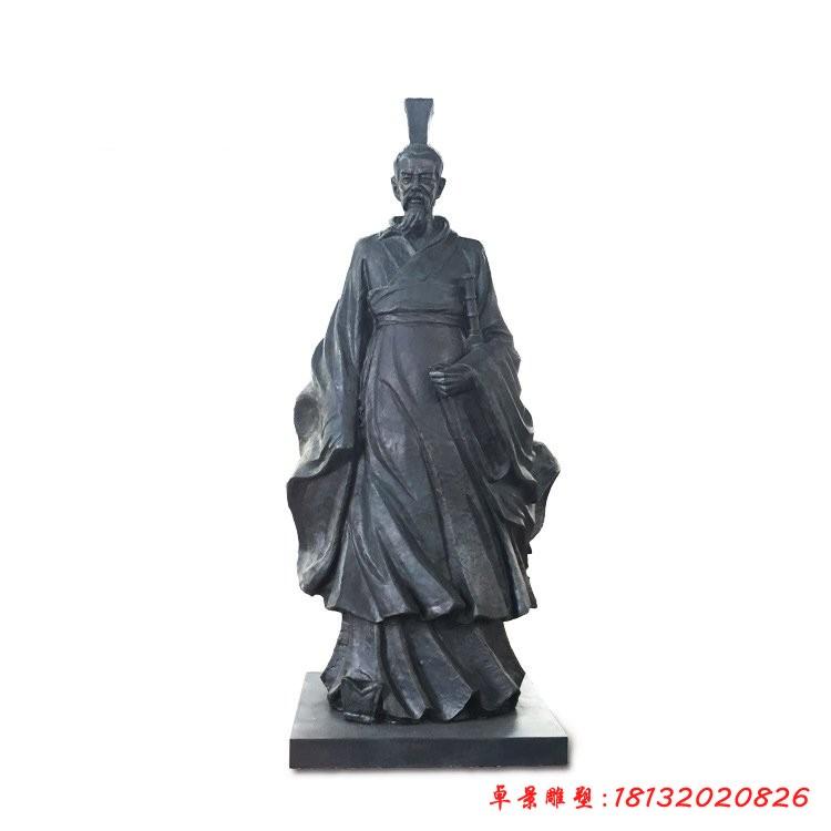 銅雕屈原古代名人