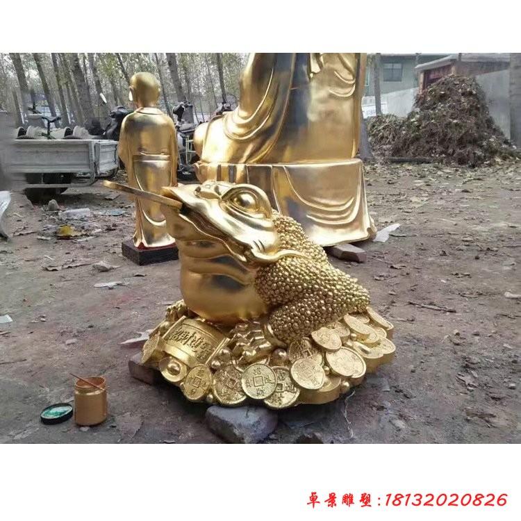 招財金蟾銅雕