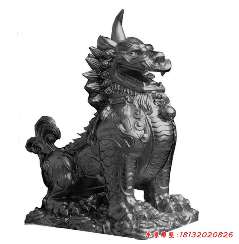獬豸神獸銅雕