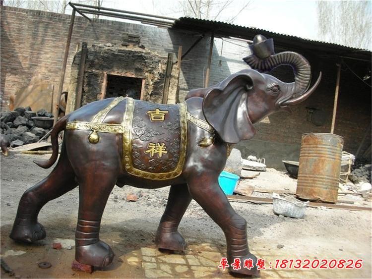 銅雕吉祥如意大象