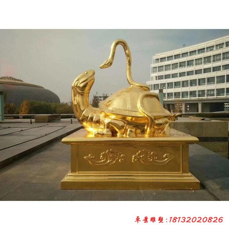 古代玄武神獸銅雕