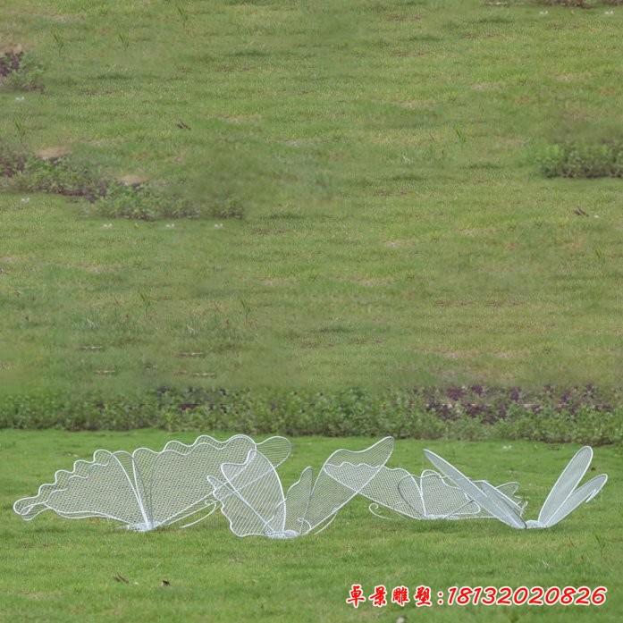 不銹鋼鏤空蝴蝶雕塑
