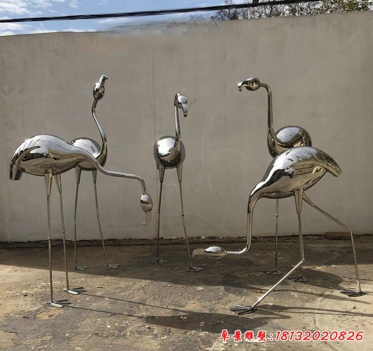 鏡面不銹鋼火烈鳥雕塑