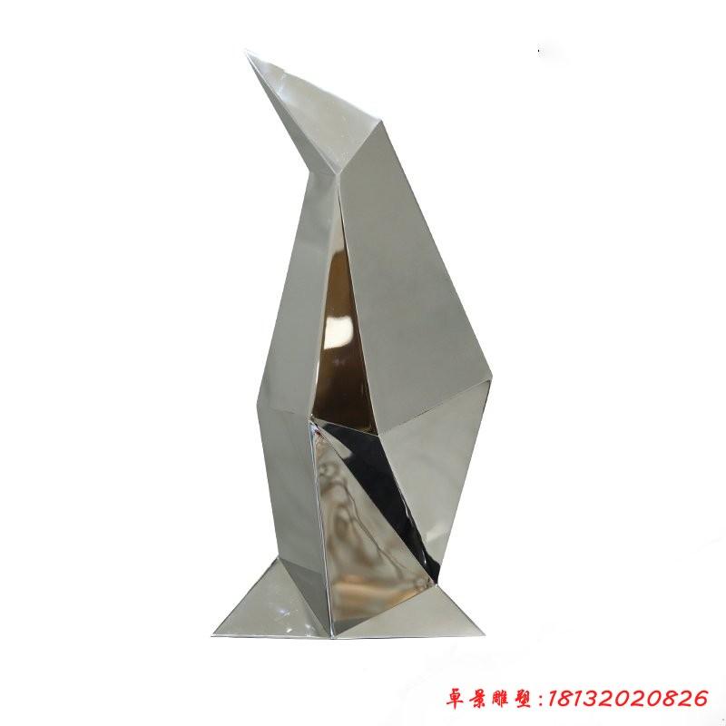 不銹鋼抽象企鵝雕塑