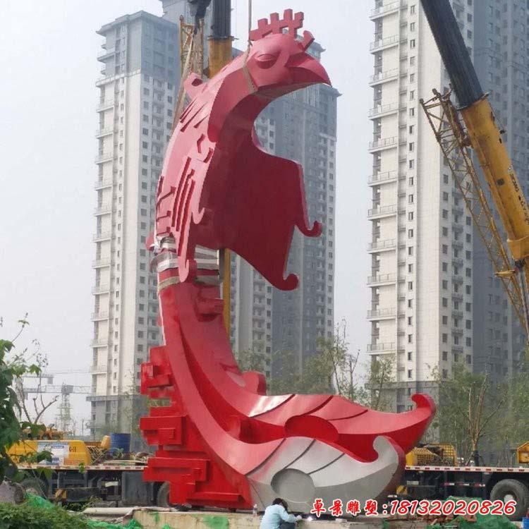 不銹鋼大型抽象鳳凰雕塑