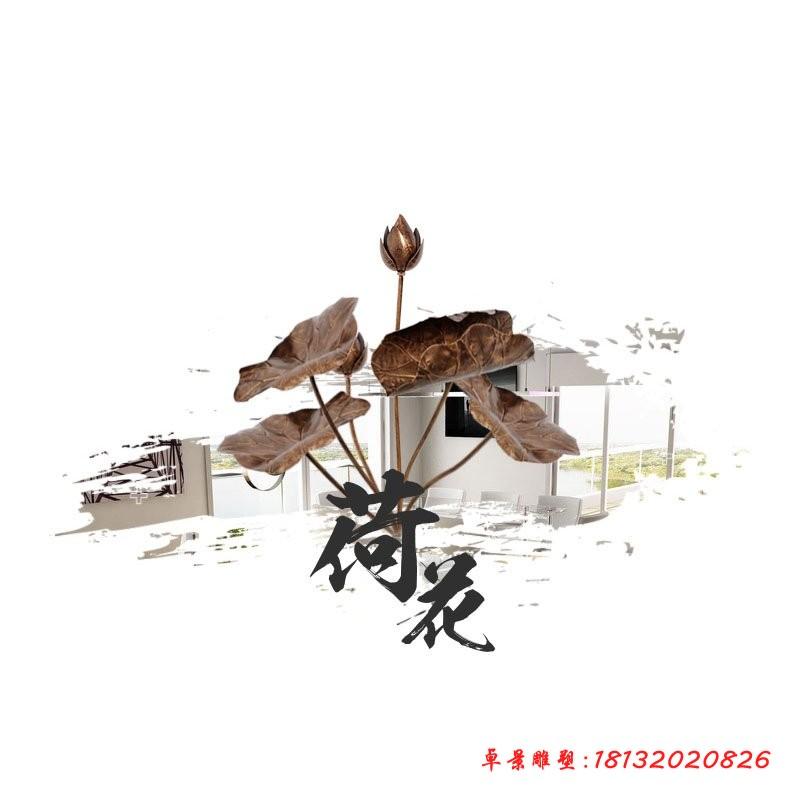 鍛銅荷花雕塑