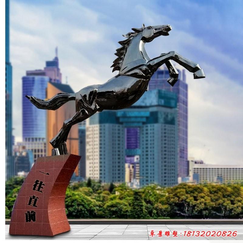 不銹鋼奔馬雕塑
