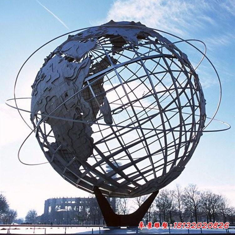不銹鋼大型地球儀雕塑