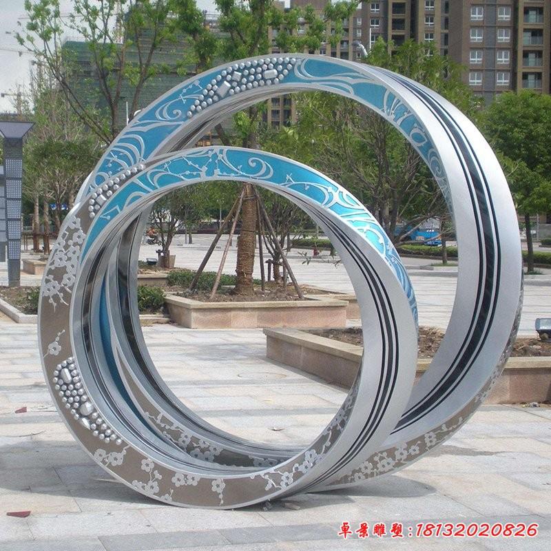 不銹鋼戒指雕塑