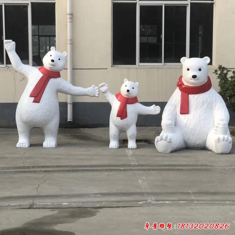圣誕北極熊雕塑