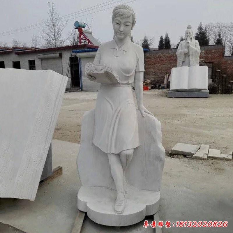 讀書女孩 雕塑