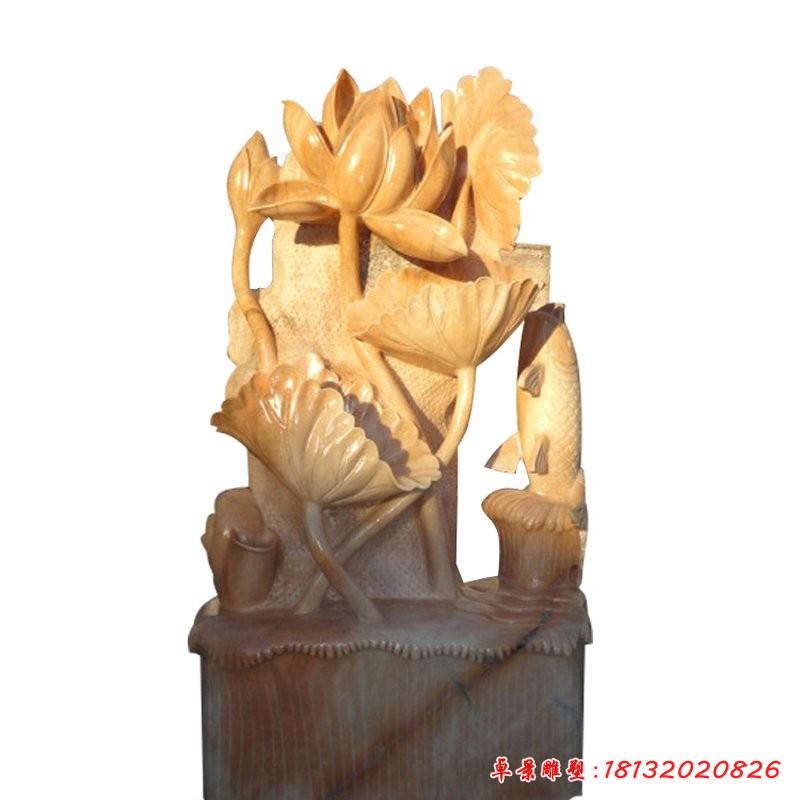 荷塘月色雕塑