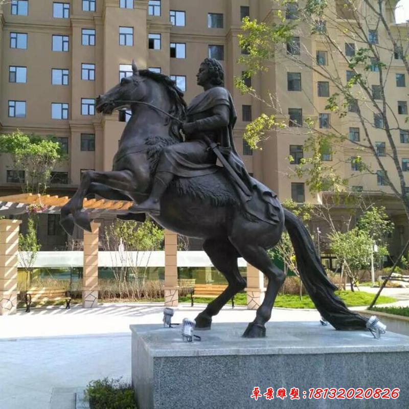 廣場騎馬雕塑