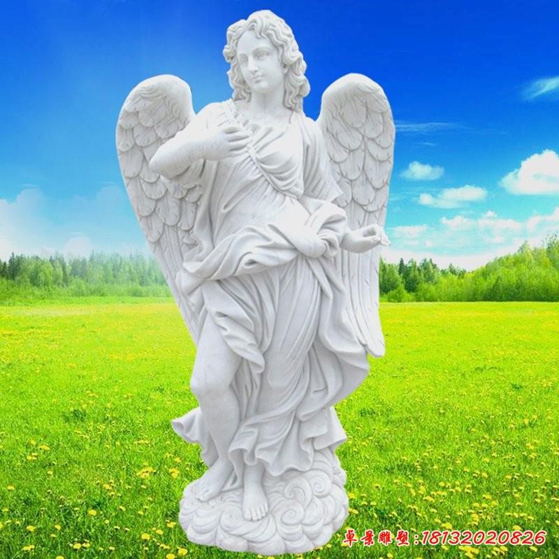 白色天使雕塑