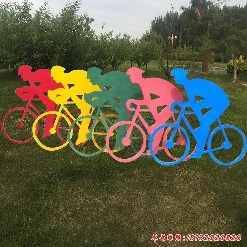 騎自行車雕塑